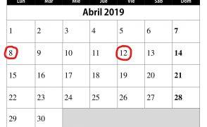 Preinscripciones ESO y Bachillerato (8 a 12 de abril)