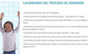 Proceso de admisión (Infantil y Primaria. Curso 2020/21)